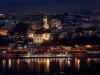 Vista nocturna de Belgrado