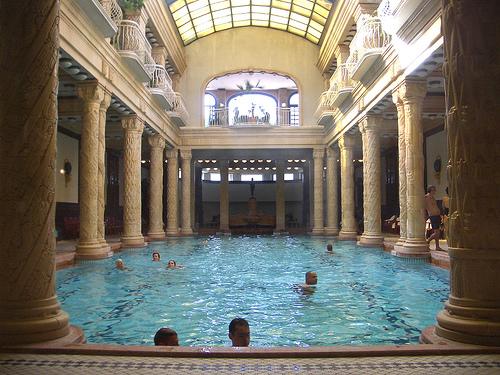 Los baños termales de Hungría