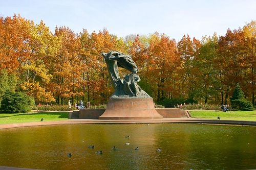 Monumentos del Parque Real Łazienki de Varsovia