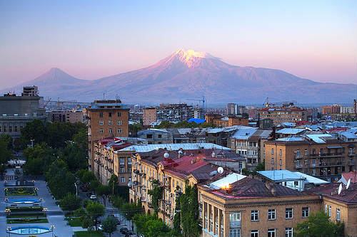 Erevan y el Monte Ararat