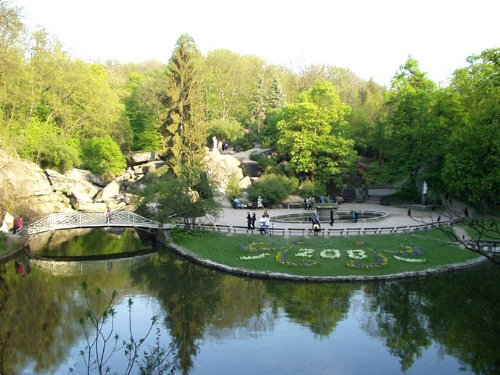 Parque Sofiyivka, paisaje hermoso en Ucrania
